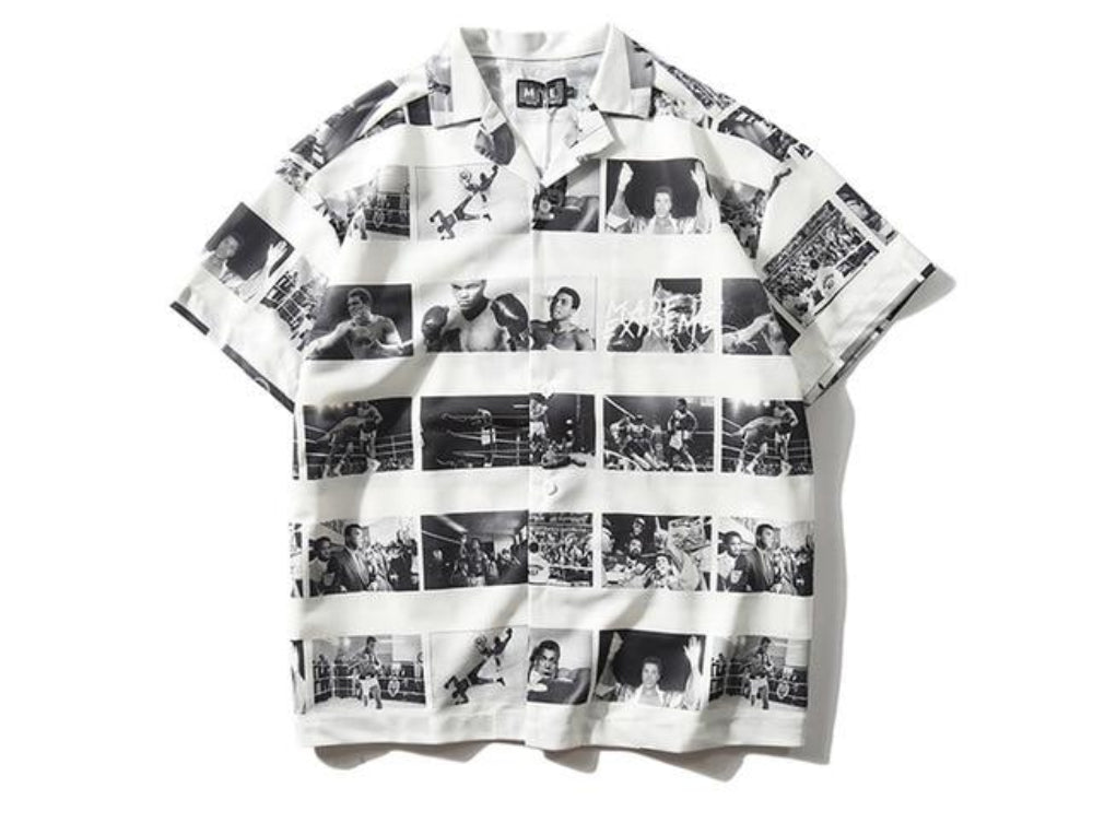 White Muhammad Ali Photo Shirt