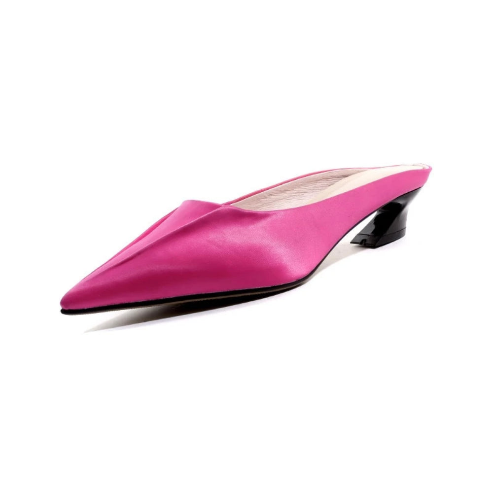 Rose Silk Slipper