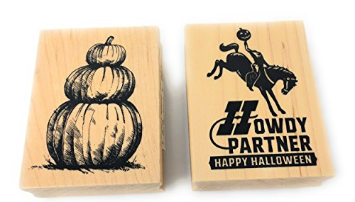 Inkadinkado Halloween Wood Block Stamp Bundle (2 Stamps)
