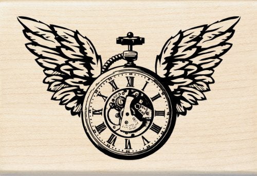 Inkadinkado Clock Wings Wood Stamp