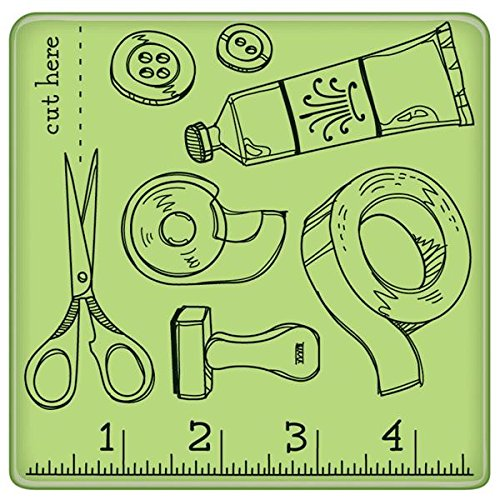 Inkadinkado Mini Cling Rubber Stamp, Craft Room Pattern