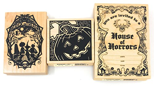 Inkadinkado Halloween Wood Block Stamp Bundle