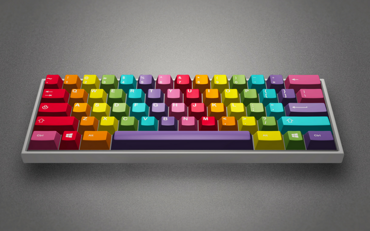 [In stock] GMK Rainbow - Limited Edition-zFrontier