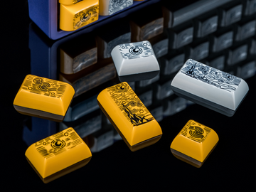 [In Stock] Keyreative KAM Starry Night PBT Dyesub Keyset R3-zFrontier