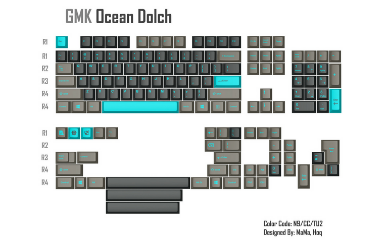 [Sold out] GMK Ocean Dolch - zFrontier Exclusive-zFrontier