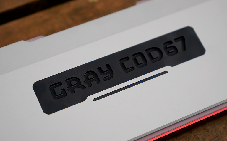 Gray COD67 Custom Mechanical Keyboard R2-zFrontier