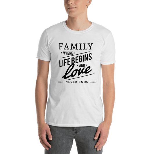 Family-Where Life Begins And Love Never Ends T-shirt - orian gifts