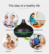 400ml Air Humidifier Essential Oil Diffuser Aroma Lamp Aromatherapy Electric Aroma Diffuser