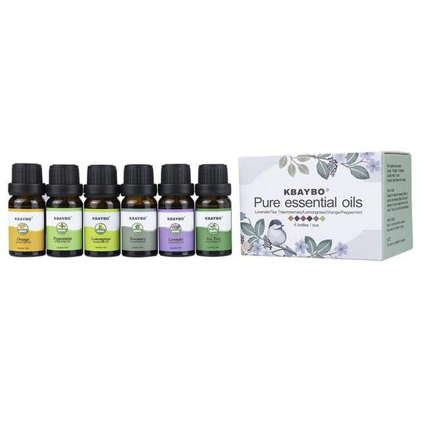 Essential Oil for Diffuser, Aromatherapy Oil Humidifier 6 Kinds Fragrance of Lavender, Tea Tree, Rosemary, Lemongrass, Orange - orian gifts