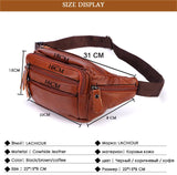 Genuine Leather Waist Bag Pouch - orian gifts