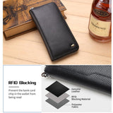 Long Genuine Leather Wallet Men Clutch Bag Leather Wallet - orian gifts