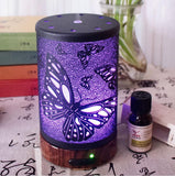 100ml Electric Air Humidifier Ultrasonic Essential Oil Diffuser Aroma Treatment 7 Color Night Light for Home Office Butterfly - orian gifts