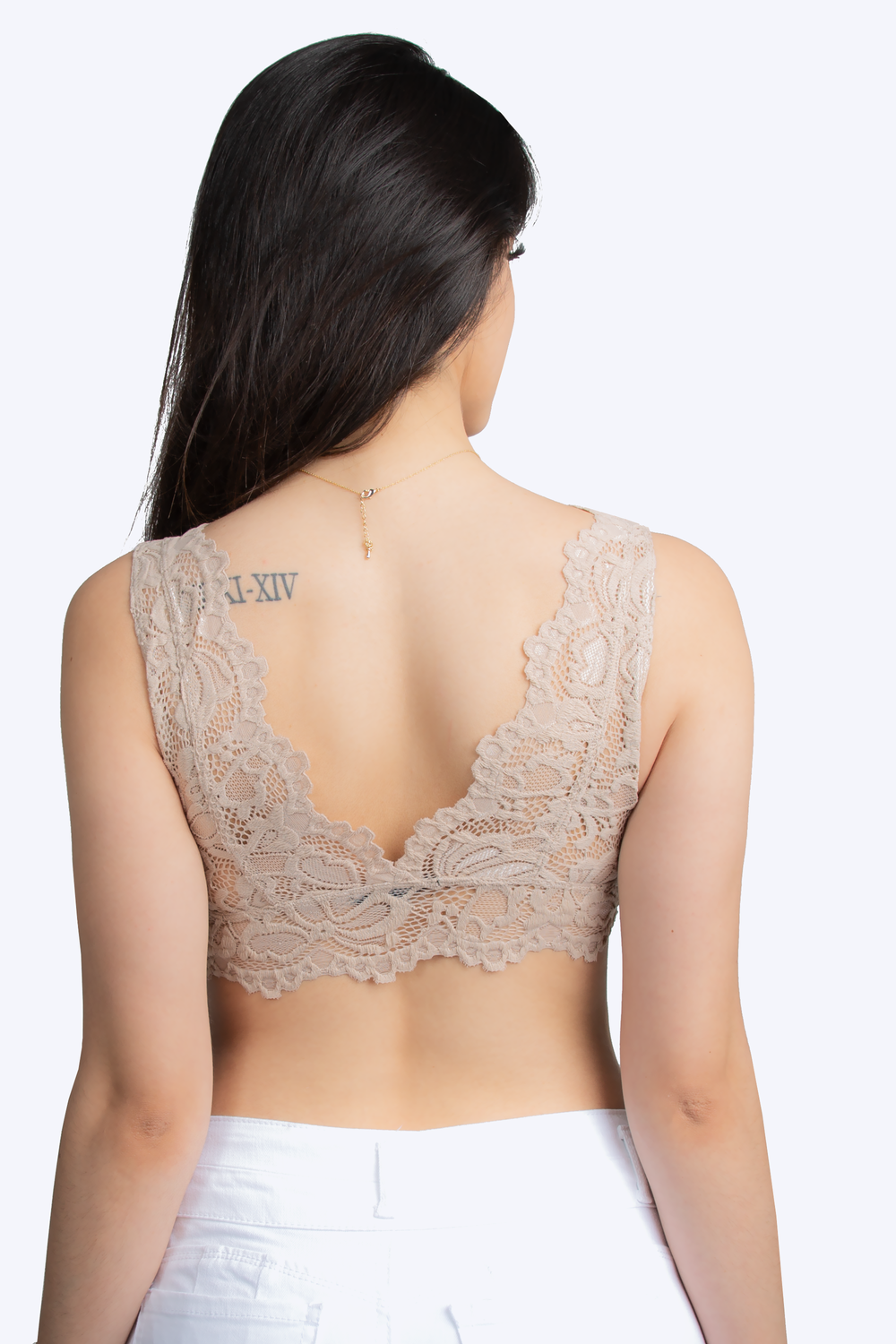 Strappy Seamless Floral Lace Bralette