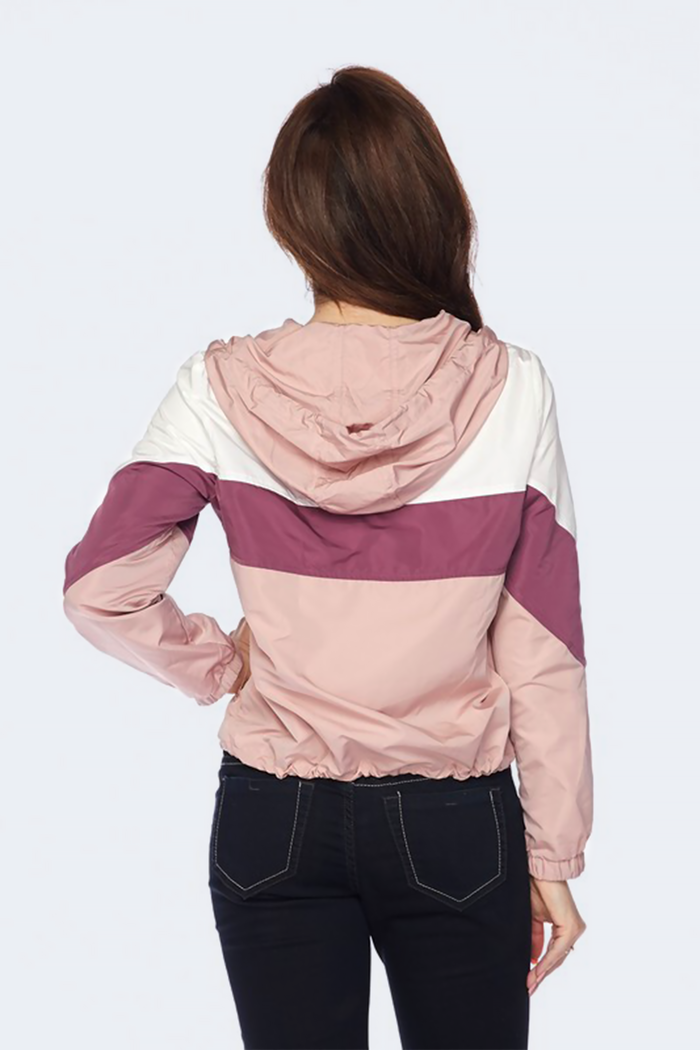Lightweight Colorblock Windbreaker Jacket