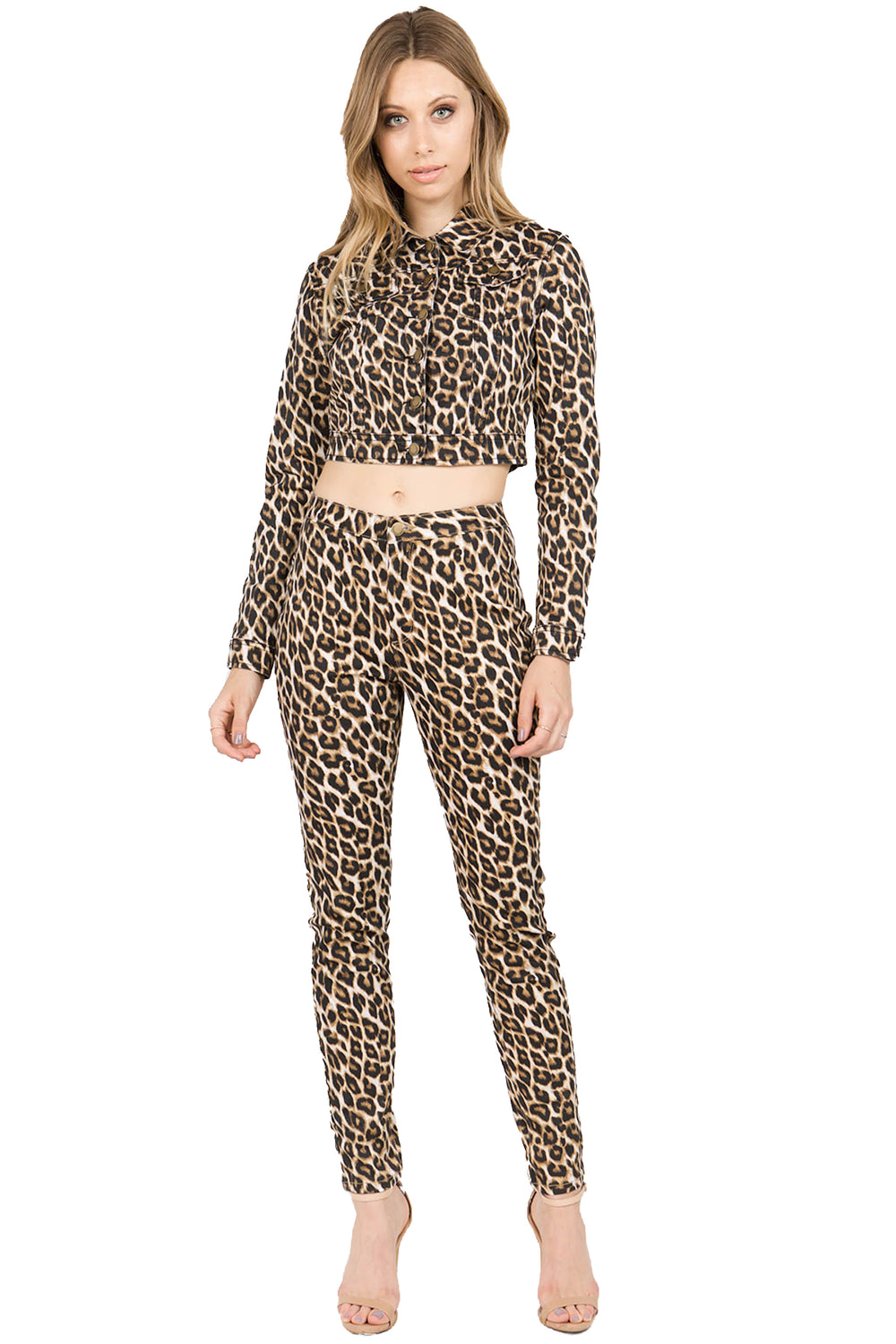 High Rise Leopard Print Skinny Pants Jeggings  l  LoveModa