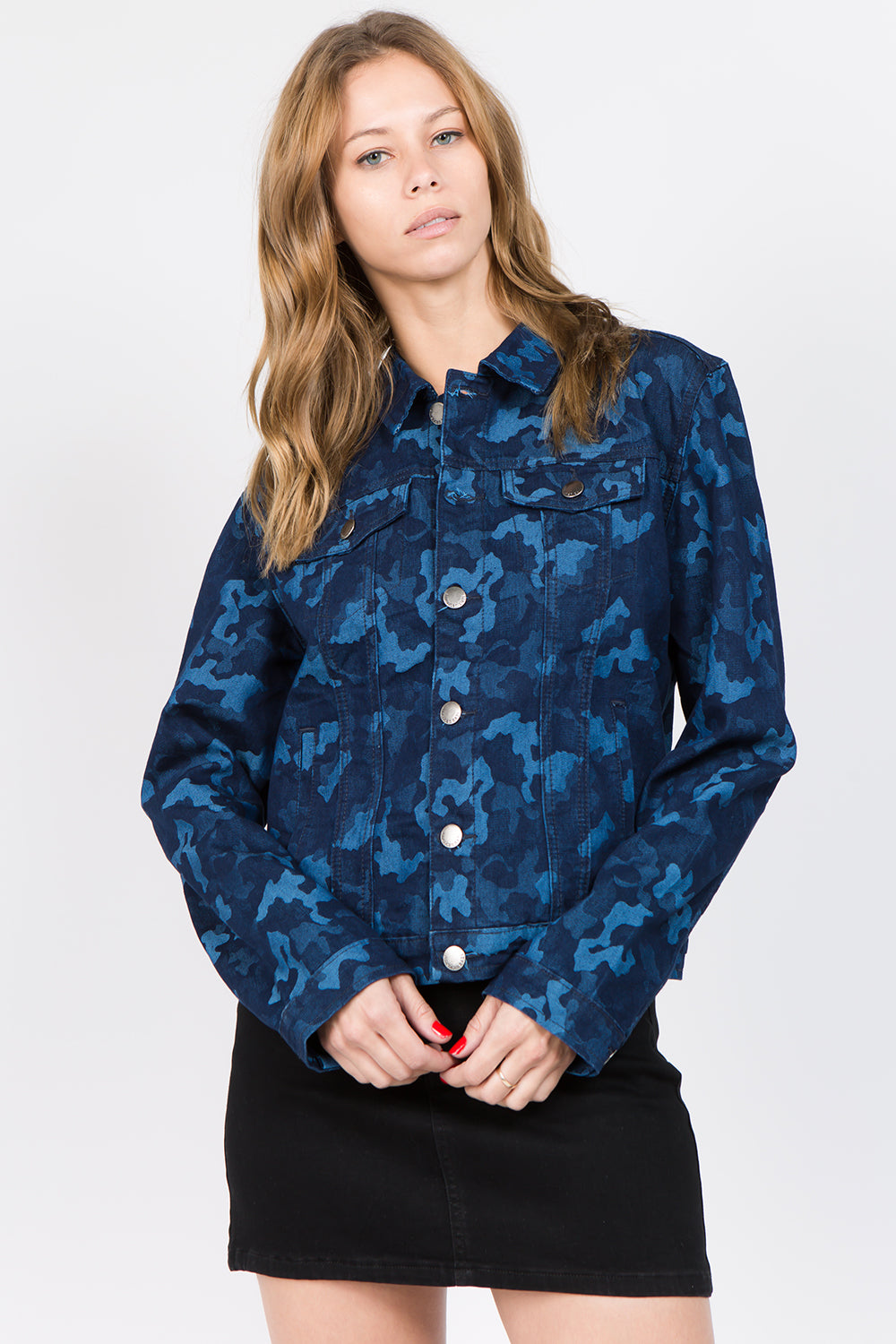 Camouflage In The Blue City Jacket  l  LoveModa