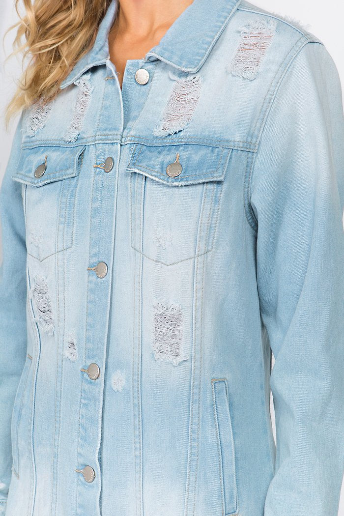 Boyfriend Denim Dress Jacket