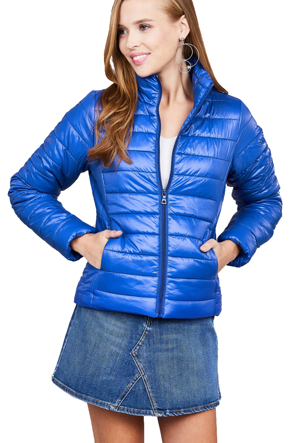 Ultra Lightweight Stand Collar Puffer Jacket
