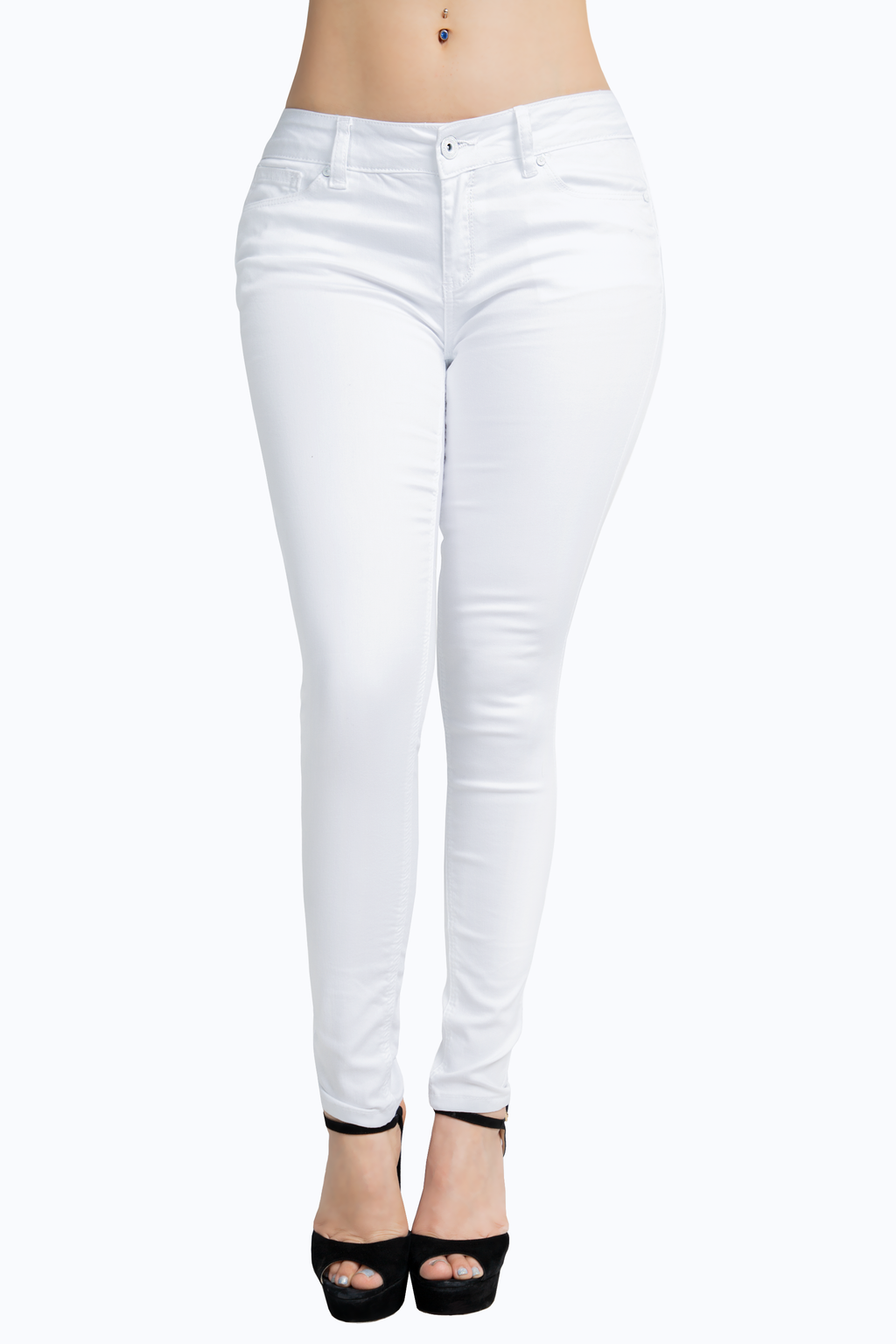 20433362c1b4 High Waist Destroyed Skinny Pants. $21.99. Butt Lifting White Skinny Jeans
