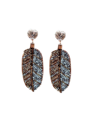 St. Armands Beaded Palm Earrings