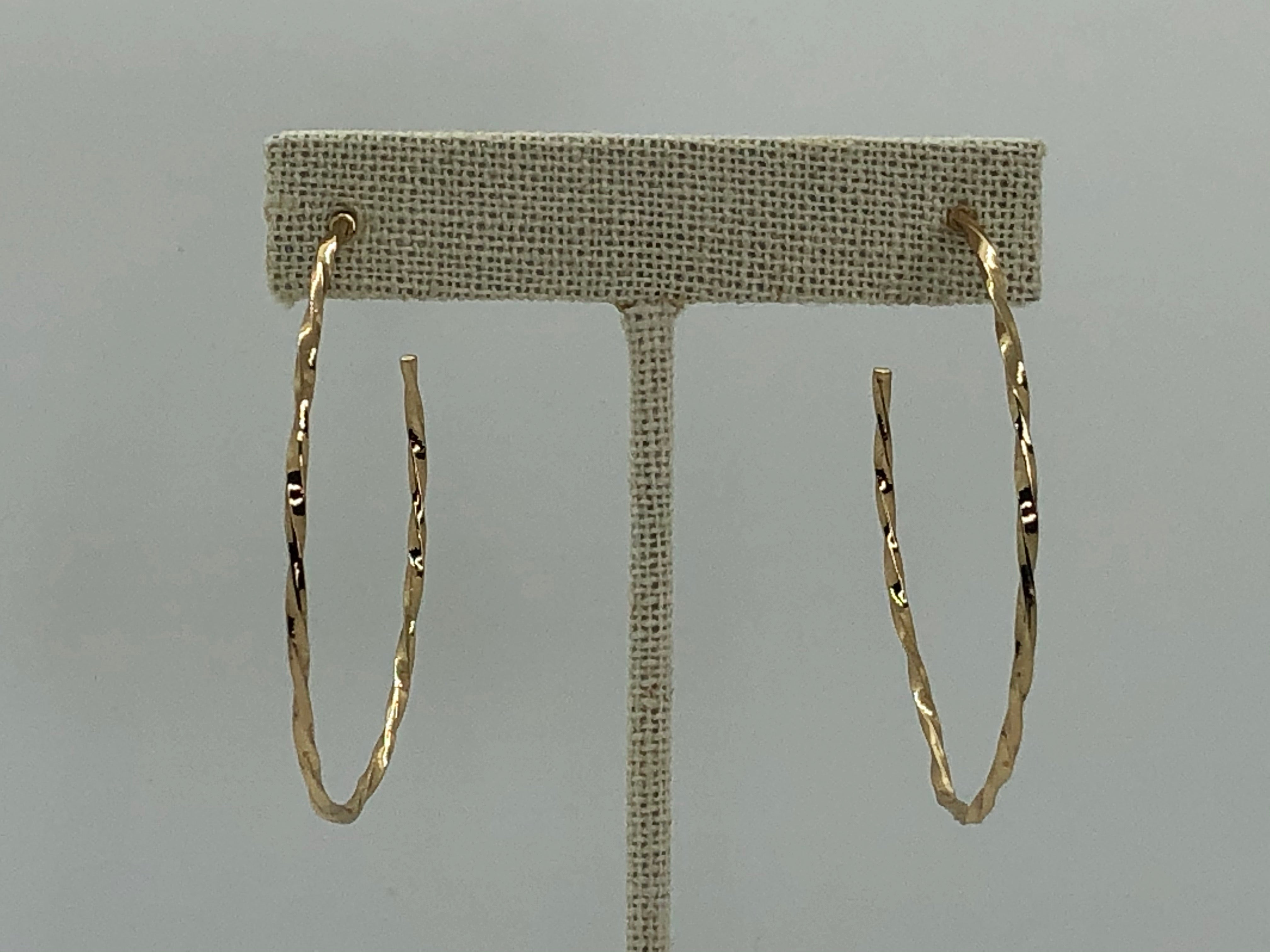 10 Carat Sterling Gold Textured Hoops