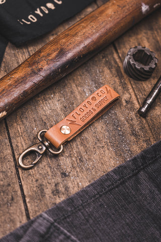 Floyd&Co Goods & Supply Key Fob (Saddle Tan)