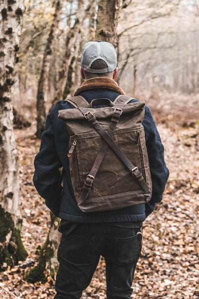 Pioneer Waxed Canvas & Leather Backpack