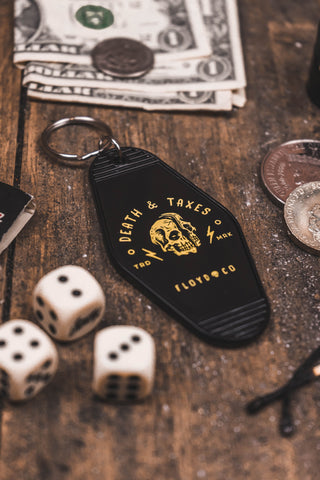 Death & Taxes Motel Key Fob