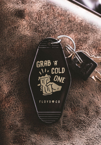 Grab a Cold One Motel Key Fob