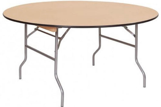"60"" Round Wood Table (Seats 8-10)"