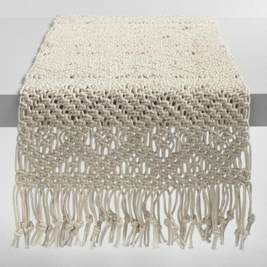 Natural Macrame Table Runner