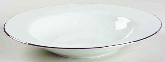Platinum Rimmed Soup Bowl