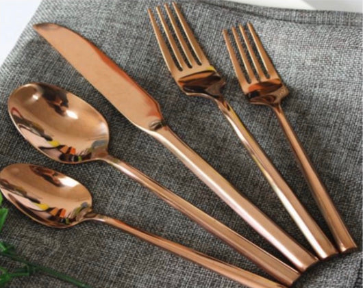 Rose Gold Modern Flatware Collection