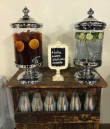 2.5 gallon Beverage Dispensers with silver lid