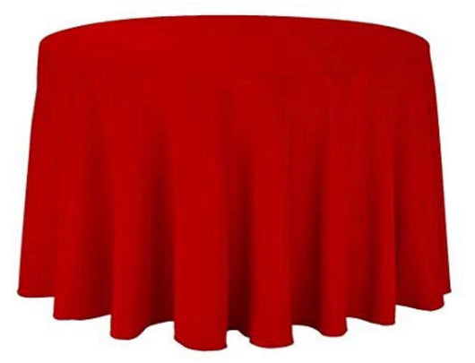 "108"" Red Polyester Table Drape"