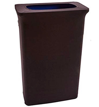 Slim Jim - 23 Gallon - Black Spandex Trash Can Cover