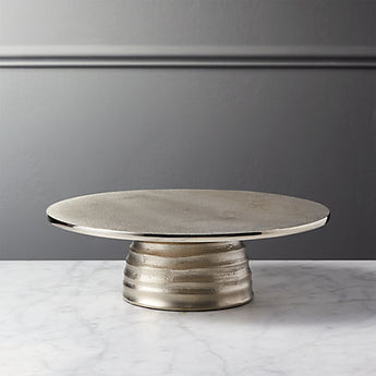 "Hive 10"" Silver Cake Stand"