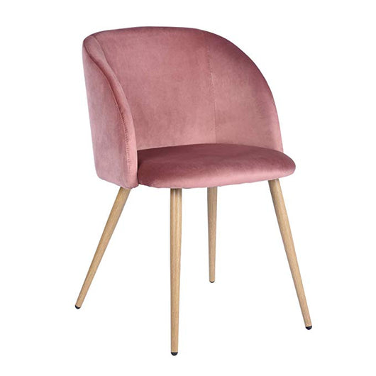 Blush Velvet Accent Chairs
