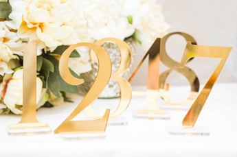 Gold Acrylic Table Numbers 1-10