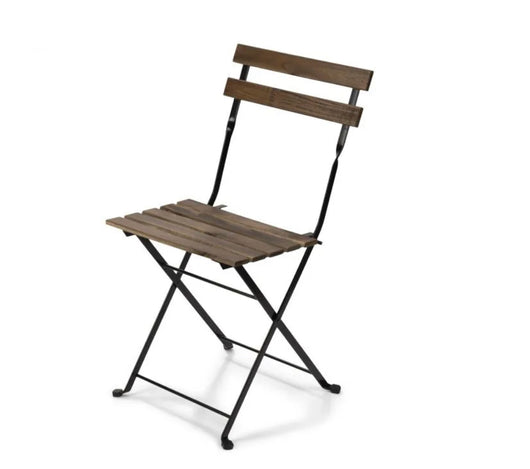 French Bistro Slatted Folding Cafe Chair