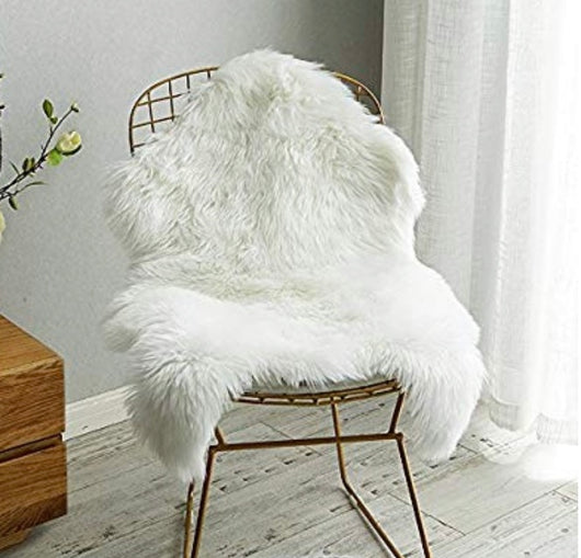 Sheepskin Chair Cover, Seat Cushion 2' x 3'