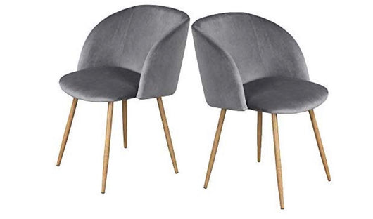 Grey Velvet Accent Chairs