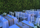 White Chiavari Chair with white cushion