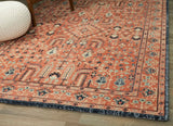 "5'3"" x 7' Burnt Orange Balta Vintage Farmhouse Persian Oriental Area Rug"