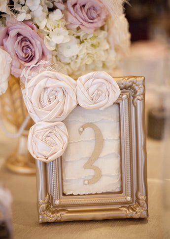 Champagne Table Numbers
