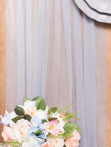 Blue Gray Sheer Table Runner