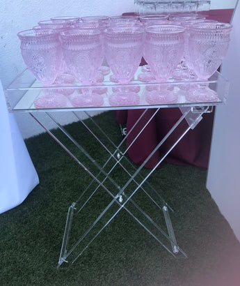 Acrylic Mirrored Folding Stand
