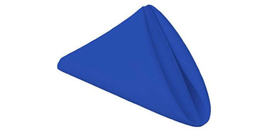 "17"" x 17"" Royal Blue Polyester Napkins"