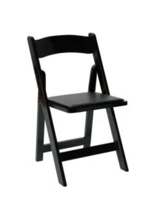 Black Wood Folding Padded Chair