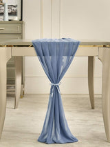 Dusty Blue Chiffon Table Runner